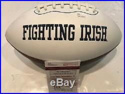 Rudy Ruettiger Autographed Signed Notre Dame Logo Football Jsa Coa