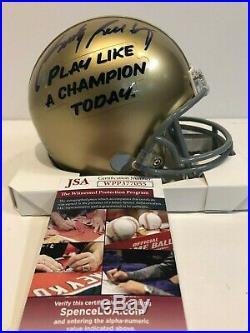 Rudy Ruettiger Autographed Signed Notre Dame Mini Helmet Jsa Coa