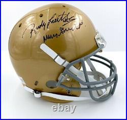 Rudy Ruettiger Notre Dame Fighting Irish Football Helmet Signed Autographed COA