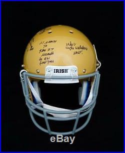 Rudy Ruettiger Notre Dame Signed Autograph FS Replica Football Helmet JSA COA