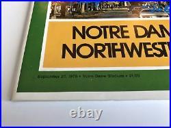 Rudy Ruettiger Signed 1975 Notre Dame Program Inscribed COA Inscriptagraphs Nw