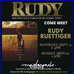Rudy Ruettiger Signed 3d Jersey Photo Autograph Coa 16x20 Inscribed Notre Dame