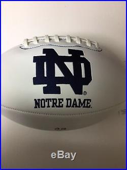 (Rudy Ruettiger) Signed & Inscribed Famous Play Notre Dame FootballCOAJSA