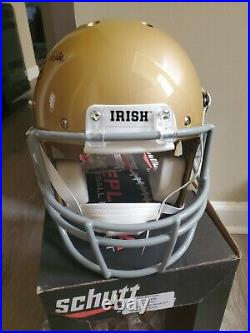 Rudy Ruettiger Signed Inscribed Notre Dame Full Size Schutt Helmet JSA COA