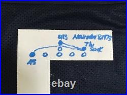 Rudy Ruettiger Signed Notre Dame Jersey with Hand Drawn Sack Play JSA COA