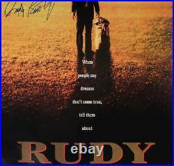 Rudy Ruettiger Signed Poster Notre Dame COA