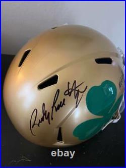 Rudy Ruettiger signed Notre Dame replica helmet JSA COA autograph