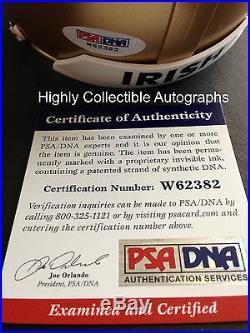 Sean Astin Signed Notre Dame Mini Helmet Rudy Autograph Football Psa Dna Coa