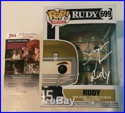 Sean Astin Signed Rudy Pop Funko Figure Notre Dame Rudy Movie Proof Jsa Coa