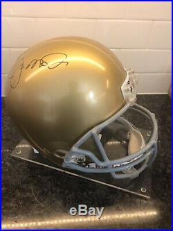 Signed Joe Montana Replica Notre Dame Helmet With COA