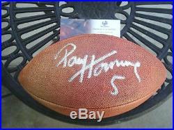 Signed Packers Notre Dame Hof 86 Paul Hornung Real NFL Football Global Gai Coa