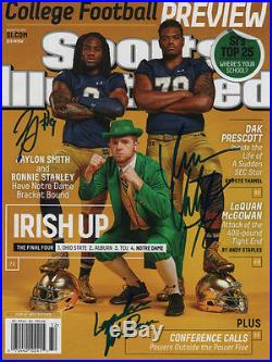 Smith & Stanley Notre Dame SIGNED Regional Sports Illustrated 8/10/15 NL COA