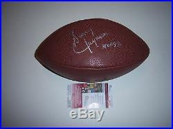 Sonny Jurgensen Washington Redskins, Hof Jsa/coa Signed Football