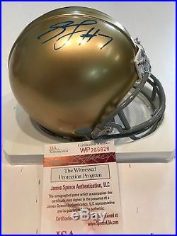 Stephon Tuitt Autographed Signed Notre Dame Mini Helmet Jsa Coa