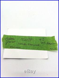 Stephon Tuitt Notre Dame Signed Mini Helmet COA CUSTOM GOLD SHAMROCK HELMET COA