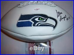 Steve Largent Seahawks, Hof Jsa/coa Signed Football