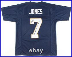 T. J Jones Signed Notre Dame Fighting Irish Jersey Inscribed (see Pics) (JSA COA)
