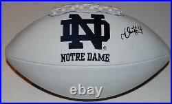 TEVON CONEY signed (NOTRE DAME) FIGHTING Full Size logo football WithCOA C