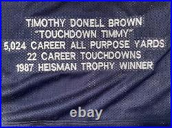 TIM BROWN AUTO SIGNED NOTRE DAME Stat JERSEY JSA COA RARE