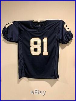 Tim Brown Auto Signed Notre Dame #81 Jersey Psa/dna Coa'87 Heisman Raiders Nd
