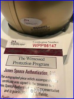 Tim Brown Autographed Signed Notre Dame Mini Helmet Jsa Coa