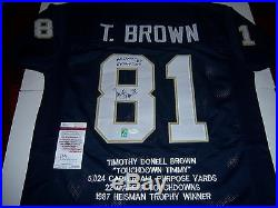 Tim Brown Notre Dame Fighting Irish, Heisman 87, Cfhof 09 Jsa/coa Signed Jersey