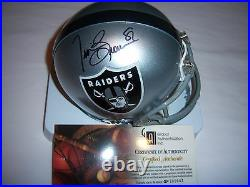 Tim Brown Oakland Raiders, Notre Dame Gai/coa Signed Mini Helmet