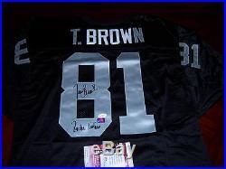 Tim Brown Raiders, Raider Nation, Notre Dame Jsa/coa Signed Jersey
