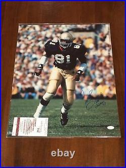 Tim Brown Signed 16x20 Notre Dame Photo with Heisman'87 Inscription JSA COA