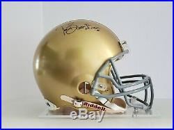 Tim Brown/ Signed Notre Dame/ Full Size Authentic Pro-Line Helmet/ (Steiner COA)