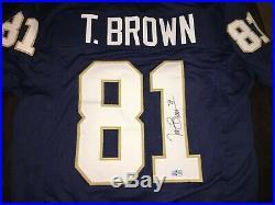 Tim Brown Signed Notre Dame Jersey Tristar Coa