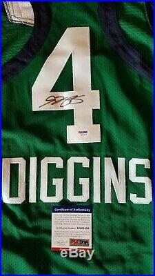 WNBA and NCAA Superstar Skylar Diggins Signed Green Notre Dame Jersey (PSA COA)