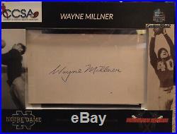 Wayne Millner Notre Dame Redskins Football Hall Of Fame Autograph With COA
