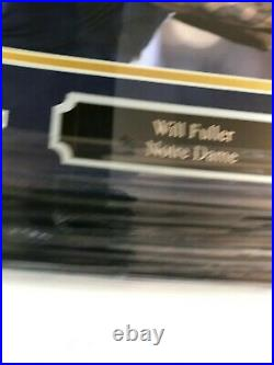 Will Fuller Notre Dame Autographed Picture Custom Framed With JSA COA